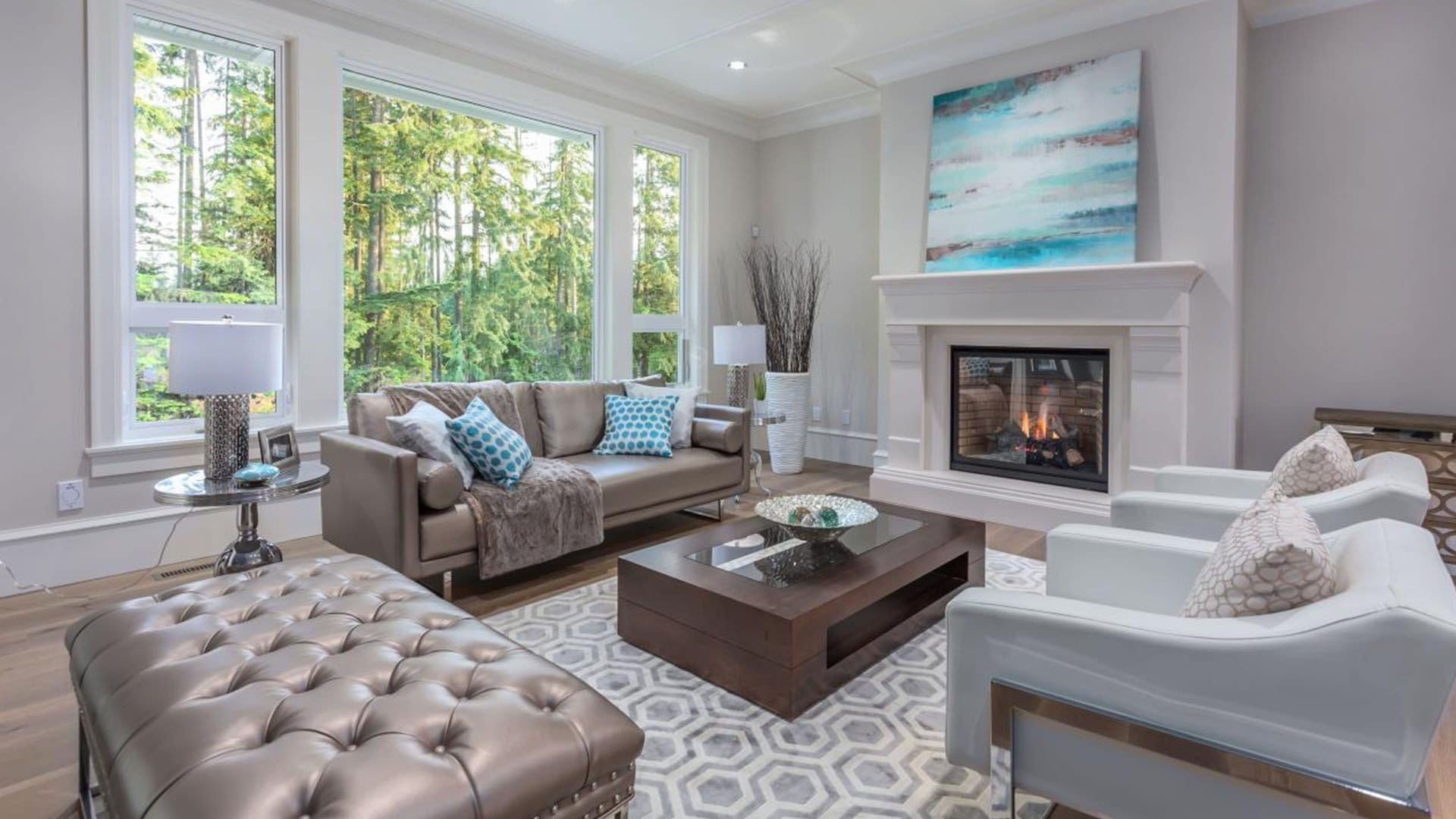 Main Living Room Staging - White Rock Homes